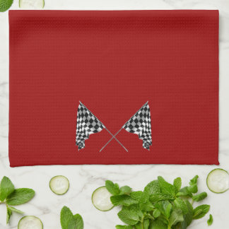 Checkered Flags Kitchen Towel