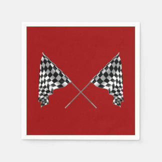 Checkered Flags Paper Napkin