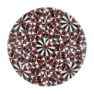 Checkered Flower Cutting Board
