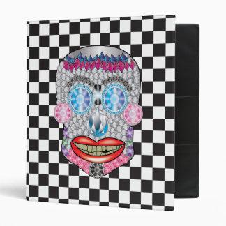 Checkered Gemma Candy Skull Binder