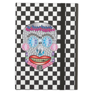 Checkered Gemma Candy Skull Ipad Air Case