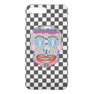 Checkered Gemma Candy Skull Iphone Case