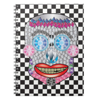 Checkered Gemma Candy Skull Notebook