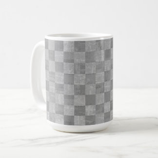 Checkered Gray 15 oz Mug