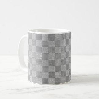 Checkered Gray Mug