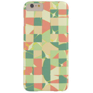 Checkered green and salmon barely there iPhone 6 plus case