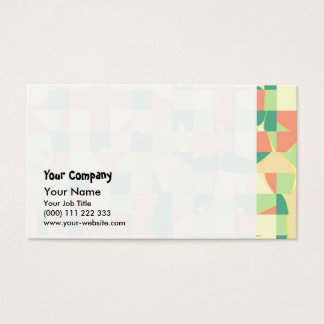 Checkered green and salmon business card