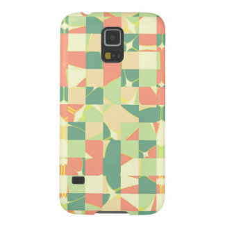 Checkered green and salmon galaxy s5 cover