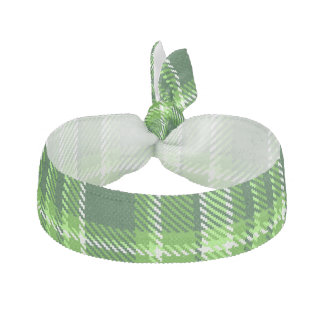 Checkered Green Color Pattern Hair Tie