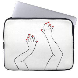 Checkered Hands Laptop Computer Sleeve