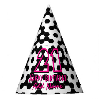 Checkered hexagons party hat