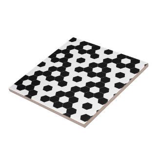 Checkered hexagons tile
