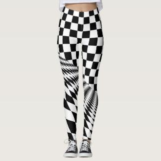 Checkered hipster leggings yoga pants