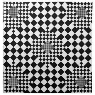 Checkered Illusion by Kenneth Yoncich Printed Napkin