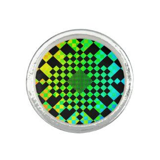 Checkered Illusion Photo Rings