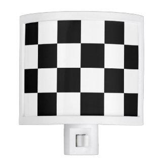 Checkered Large - Black and White Night Lites