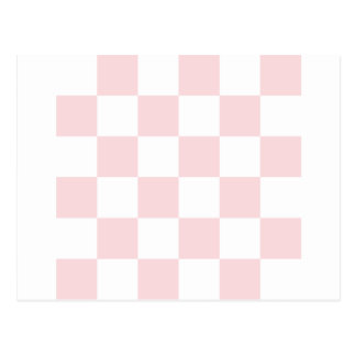 Checkered Large - White and Pale Pink Postcard