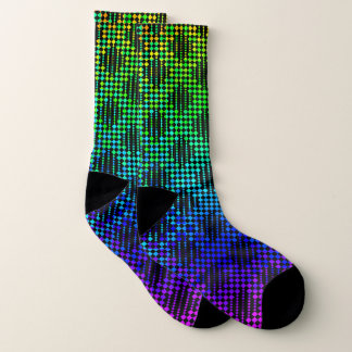 Checkered Lattice Fence by Kenneth Yoncich Socks