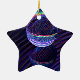 Checkered lines in the glass ball ceramic ornament