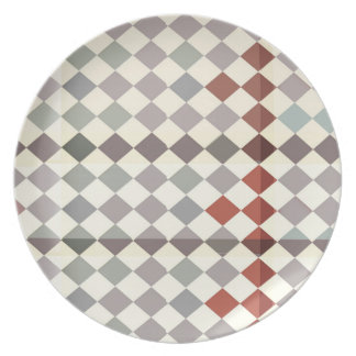 checkered Melamine Plate