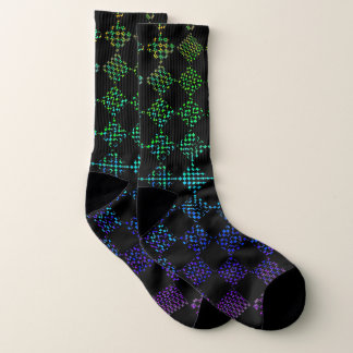 Checkered Moire by Kenneth Yoncich Socks