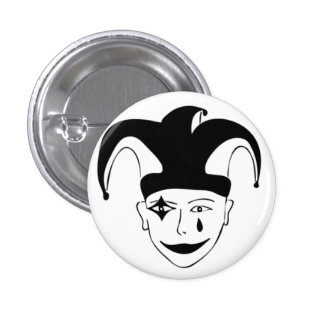 Checkered MTJ 1 Inch Round Button