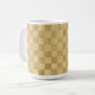 Checkered Pale Gold 15 oz Mug