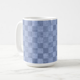 Checkered Pale Indigo 15 oz Mug