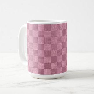 Checkered Pale Pink 15 oz Mug