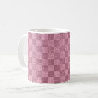 Checkered Pale Pink Mug