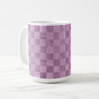Checkered Pale Purple 15 oz Mug