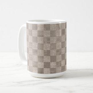 Checkered Pale Sepia 15 oz Mug