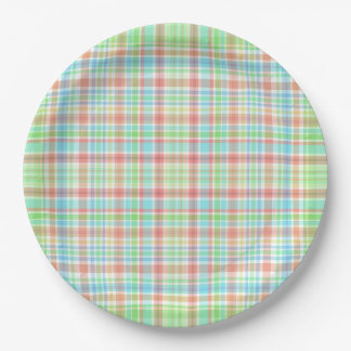 """""""checkered"""", Paper Plates 9"""" x 9"""" 9 Inch Paper Plate"""