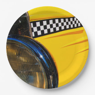 Checkered Past Paper Plate