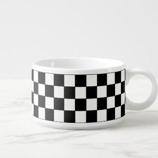 checkered pattern chili bowl