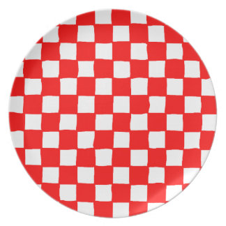 checkered pattern (red) Plate