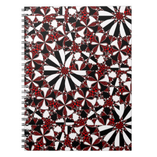 Checkered Petals Notebook