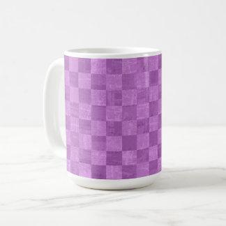 Checkered Purple 15 oz Mug