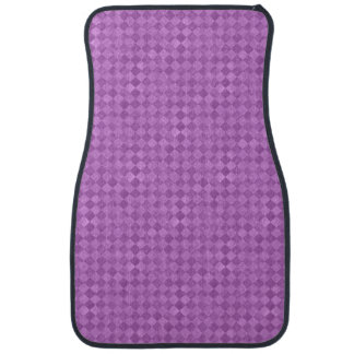 Checkered Purple Grunge Front Car Mat