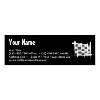 Checkered Racing Brush Flag Business Card Templates