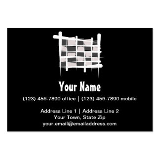Checkered Racing Brush Flag Business Card