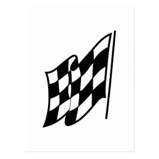 Checkered Racing Flag Postcard