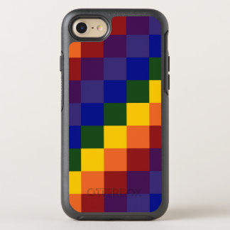 Checkered Rainbow Color Blocks OtterBox Symmetry iPhone 7 Case