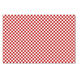 Checkered Red-White-Tissue Paper