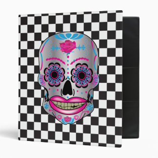 Checkered Rose Candy Skull Binder