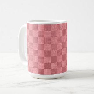 Checkered Salmon Red 15 oz Mug