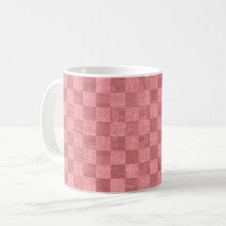 Checkered Salmon Red Mug