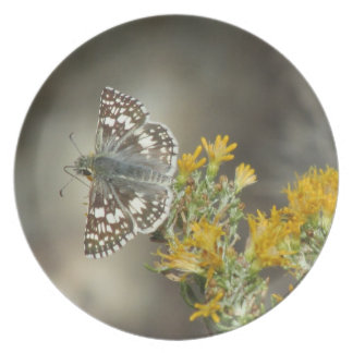 Checkered Skipper Butterfly Plate