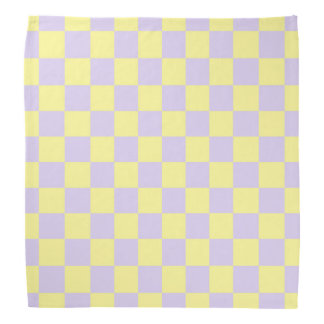 Checkered Soft Yellow and Purple Kerchiefs