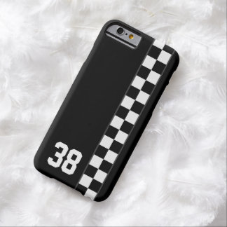 Checkered Stripe Custom Number iPhone 6 case